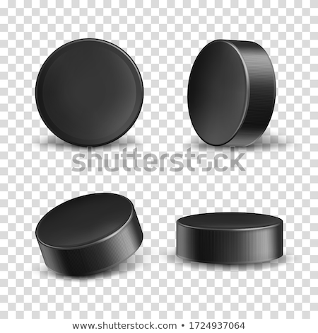 Hockey black puck vector background Stock photo © saicle