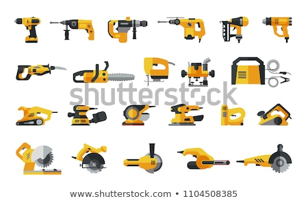 Set of chainsaws Stock photo © bluering
