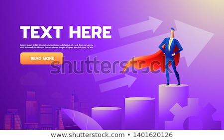 Super vent man rok witte shirt Stockfoto © goir