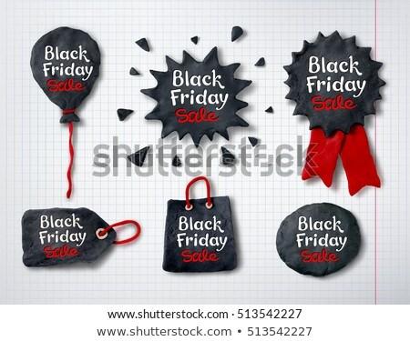 Black Friday lettering on plasticine tag banner Stock photo © Sonya_illustrations