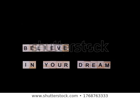 Quotes Isolated Tiled Letters Concept and Theme Stock photo © enterlinedesign