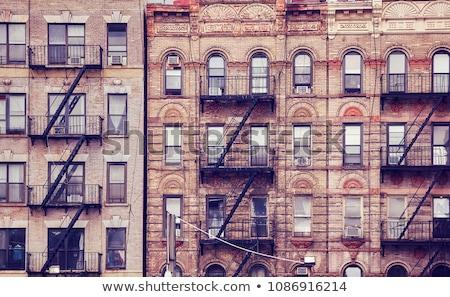 Retro toned apartment building facade Stock photo © stevanovicigor