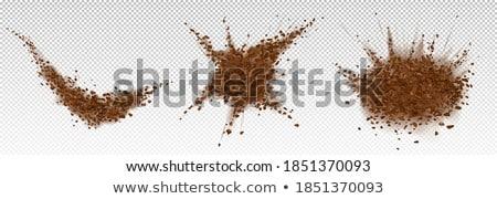 Bonen poeder kom vruchten chocolade Stockfoto © tycoon