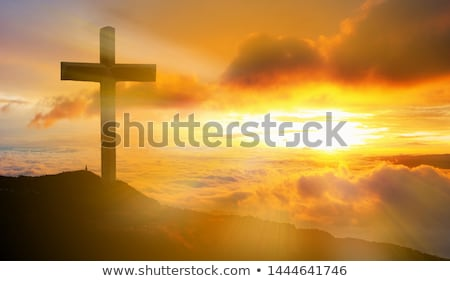 Christ on the cross at sunset Stock photo © pictureguy