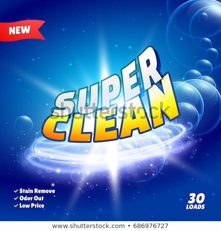 Schoonmaken wasmiddel product verpakking ontwerp badkamer Stockfoto © SArts