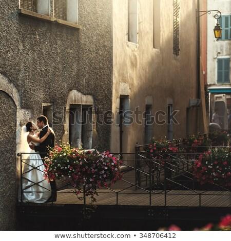 groom leaned against the wall Stock photo © tekso