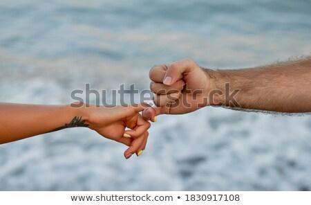 画像 カップル 指 立って ストックフォト © wavebreak_media