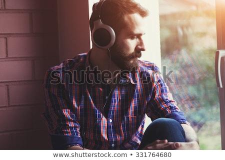 Portre adam dinleme müzik kulaklık Stok fotoğraf © wavebreak_media