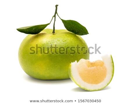 Geschält Grapefruit grünen weiß Essen Obst Stock foto © Digifoodstock