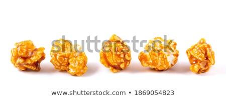 Darabok friss pattogatott kukorica sorok fehér csoport Stock fotó © Digifoodstock