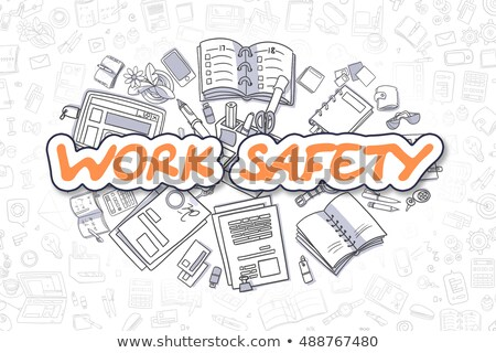 Work Safety - Cartoon Orange Word. Business Concept. Stock photo © tashatuvango