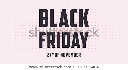 black friday sale poster or flyer discount background for the online store shop promotional leafl stock photo © leo_edition