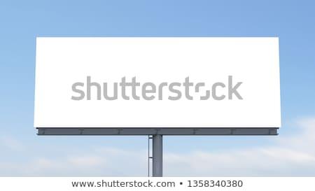 lege · witte · billboard · trottoir · business · weg - stockfoto © luissantos84