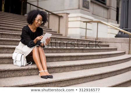 Reading outside the office Stock photo © IS2