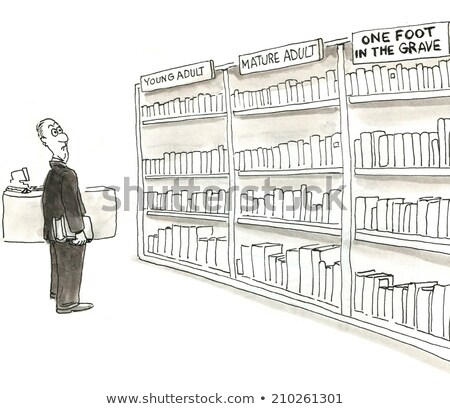 Older woman selecting book in library Stock photo © IS2