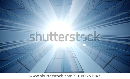 Skyscrapers with Windows That Shines Under Sun Stock photo © robuart