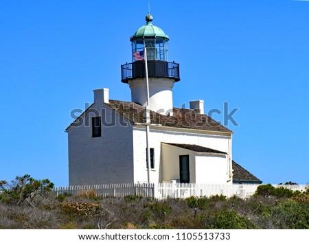 point loma lighthouse close up stock photo © backyardproductions