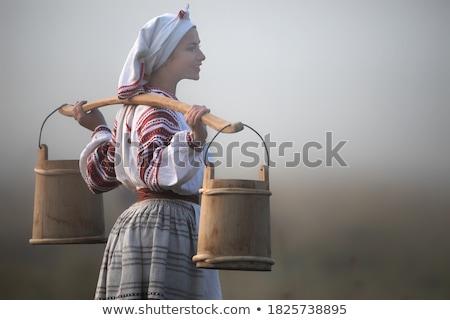 Pretty Ukrainian woman Stock photo © acidgrey