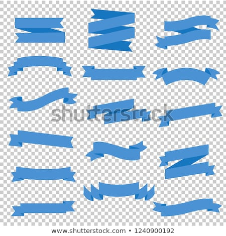 Blue Ribbon Set In Transparent Background Stock photo © cammep