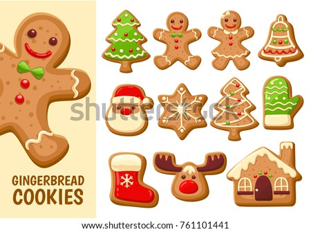 Christmas gingerbread cookies and fir tree Stock photo © karandaev