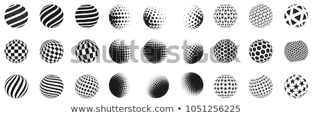 colorful ball circle with square halftone vector Stock photo © blaskorizov