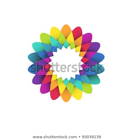 Sárga virág gradiens vektor ikon terv logo Stock fotó © blaskorizov