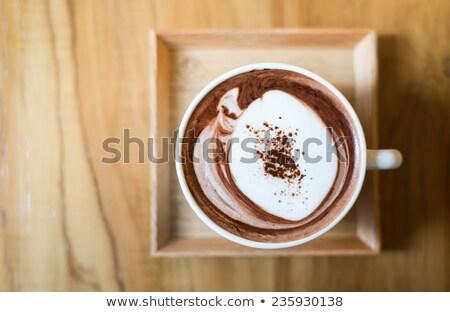csokoládé · sütik · csésze · kávé · közelkép · asztal - stock fotó © illia