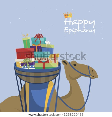 Feliz dia camelo presentes inglês texto Foto stock © Imaagio