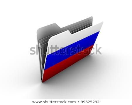 Carpeta bandera Rusia archivos aislado blanco Foto stock © MikhailMishchenko