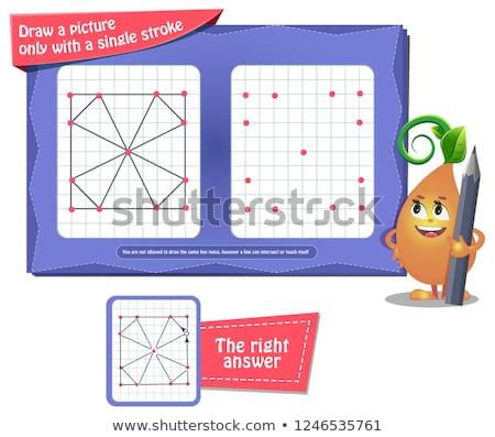 Kleurboek hersenen onderwijs spel kinderen volwassenen Stockfoto © Olena