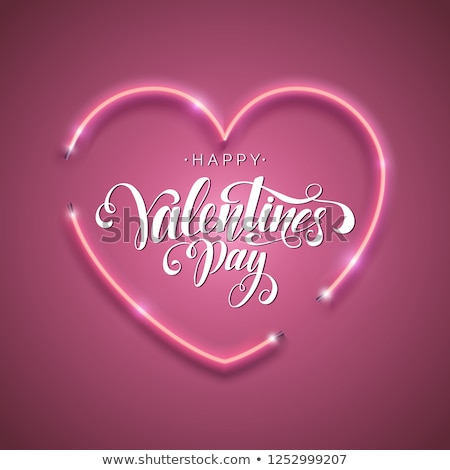 neon hearts background for valentines day stock photo © sarts