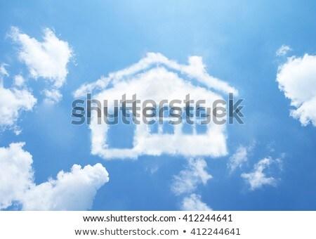casa · símbolo · nube · forma · cielo · azul - foto stock © make