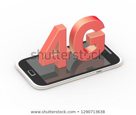 3d render of 4g generic smart mobile phone Stock photo © nasirkhan