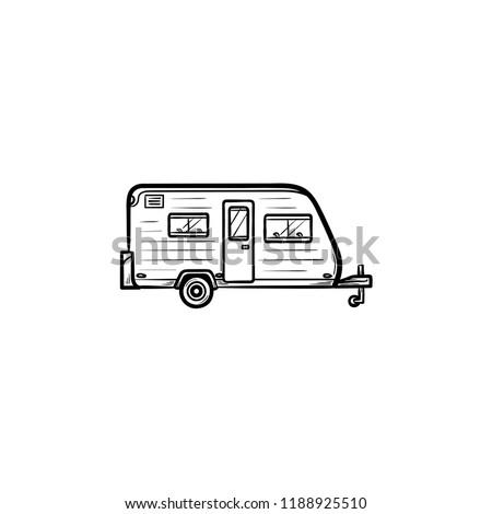 Vintage · рисованной · кемпинга · логотип · лагерь - Сток-фото © rastudio