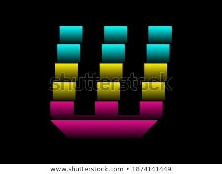 letter w cmyk colorful icon logo vector Stock photo © blaskorizov