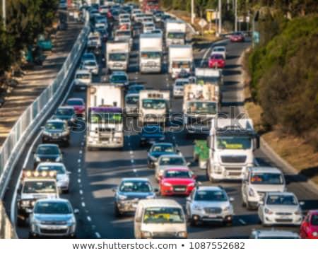 forgalom · autóút · ki · belváros · Atlanta · vízszintes - stock fotó © iofoto