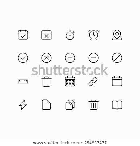 rangsor · vonal · ikon · vektor · izolált · fehér - stock fotó © kyryloff