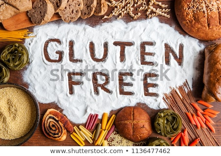 Stock photo: Gluten free rice flour, grain and noodle