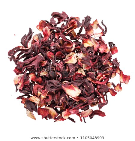 Halom aszalt virág piros gyümölcs tea Stock fotó © galitskaya