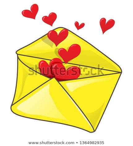ロマンチックな 封筒 多くの 中心 クリップアート 幸せ ストックフォト © doomko