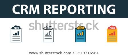 Crm verslag ontwerp stijl kleurrijk illustratie Stockfoto © Decorwithme