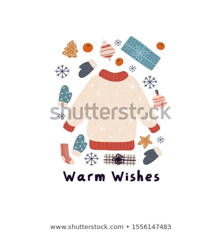 cartoon cute hand drawn winter season seamless pattern stock photo © balabolka