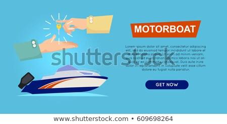 Vásárol motorcsónak online csónak elad háló Stock fotó © robuart