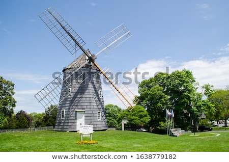 Windmolen dorp platteland zonnige zomer dag Stockfoto © grafvision