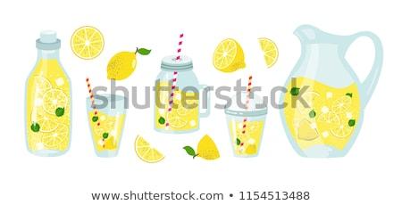 Szkła świeże lemoniada żywności charakter owoców Zdjęcia stock © Imaagio