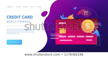 Banking operations concept landing page Stock photo © RAStudio
