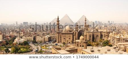 Egipt wygaśnięcia panorama Kair budynku sztuki Zdjęcia stock © artush