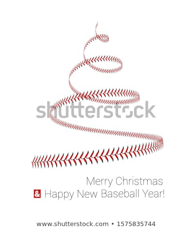 Christmas tree twisted in the form of lacing from a baseball. Vector 3d illustration on a white Stock photo © m_pavlov