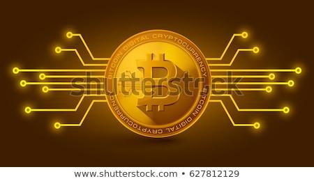Bitcoin érmék érme hdd okostelefon USA Stock fotó © olira