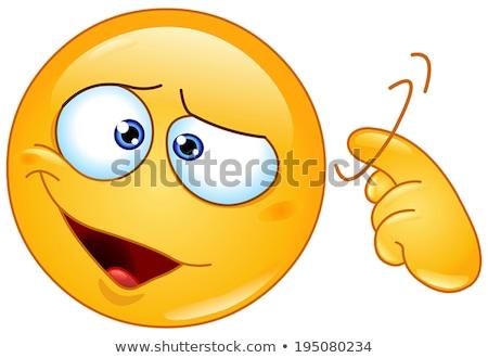 Parafuso solto emoticon assinar dedo Foto stock © yayayoyo
